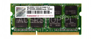 SODIMM DDR3 8GB PC1600 - Aspire 5950, 8951